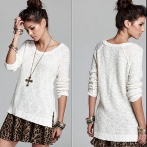 Free People cream Jeepster pullover sweater